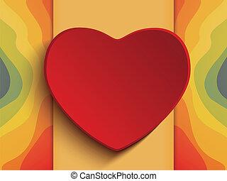 tęcza, valentine, dzień, tło, serce