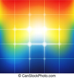 tęcza, wibrujący, abstrakcyjny, zamazany, kolor, tło
