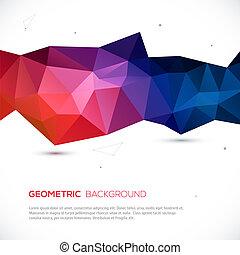 tło., abstrakcyjny, geometryczny, barwny, 3d