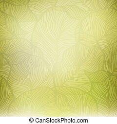 tło, abstrakcyjny, rocznik wina, zielony