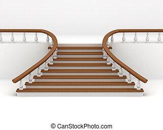 tło., abstrakcyjny, schody