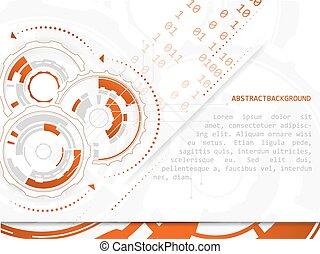 tło, abstrakcyjny, strzały, wektor, mechanizmy, deska obchodzenia