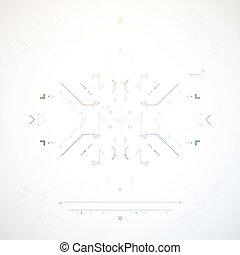 tło., abstrakcyjny, technologia