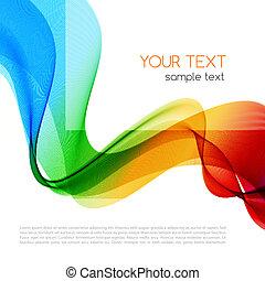 tło., abstrakcyjny, wave., barwny, widmo