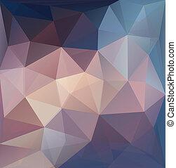 tło., abstrakcyjny, wielobok, barwny, vector.