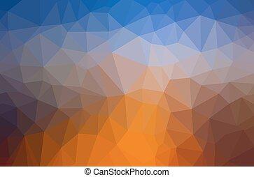 tło., abstrakcyjny, wielobok, geometryczny