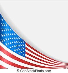 tło., amerykanka, wektor, bandera, illustration.