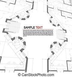 tło., architektoniczny, vector.
