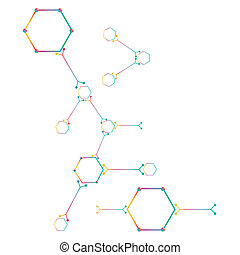 tło., atom, część, biały