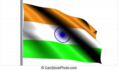 tło, bandera, indie