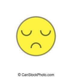 tło., biały, disapproval., uśmiech