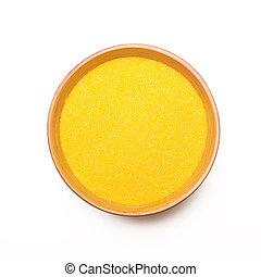 tło, biały, puchar, proszek, żółty