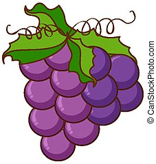 tło, biały, zielony, winorośl, winogrona