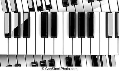 tło, czarne piano, klawiatura