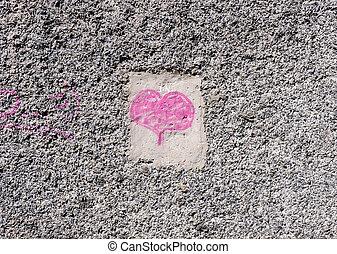 tło., dzień, list miłosny