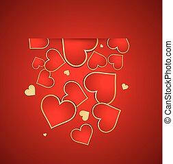 tło., dzień, valentine