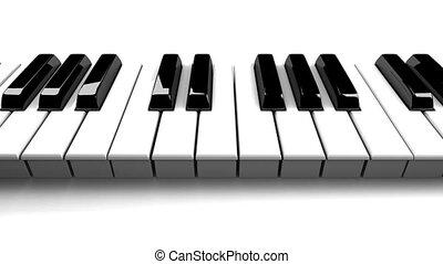 tło, fortepianowa klawiatura, biały
