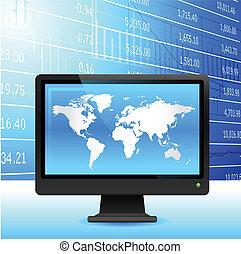 tło., globalna ekonomia