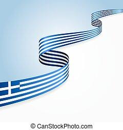 tło., grecka bandera