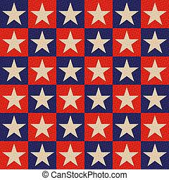 tło, gwiazdy, seamless, patriotyczny