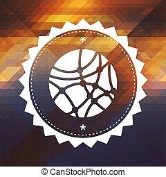 tło., ikona, trójkąt, sieć, towarzyski