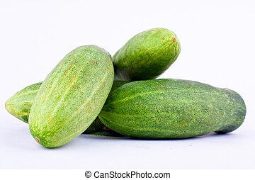 tło, jadło, zieleń biała, ogórek, roślina, zdrowy, odizolowany, świeży