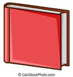tło, książka, czerwony biel