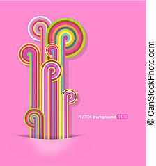 tło., kwestia, różowy, abstrakcyjny