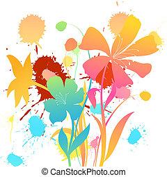 tło, kwiatowy