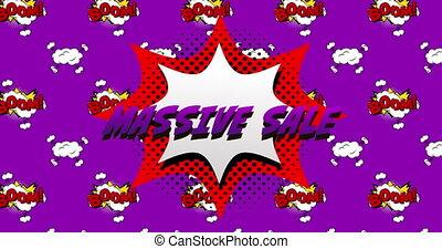 tło, masywny, purpurowy, sprzedaż, tekst, przeciw, bańka, ...