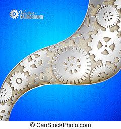 tło., mechanizmy, mechaniczny