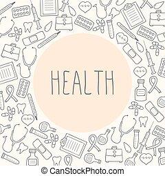 tło., medyczny, wektor, ilustracja, health.