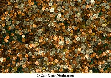 tło, od, monety