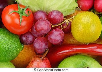 tło, od, warzywa, i, owoce