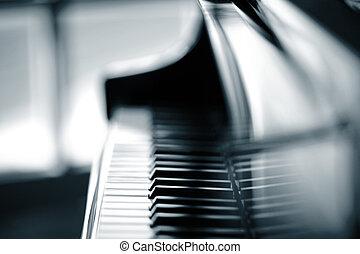 tło, piano, płytki, dof.