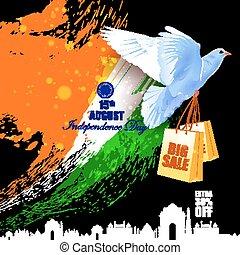tło, przelotny, indianin, reklama, gołębica, dzień, niezależność, celebrowanie