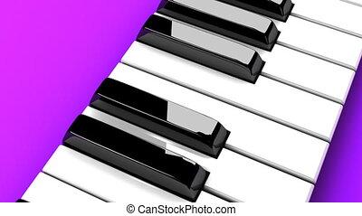 tło, purpurowy, fortepianowa klawiatura