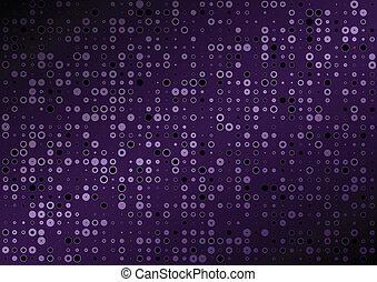 tło, purpurowy, wektor, kropka