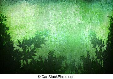 tło, roślina, grunge, abstrakcyjny, turkus