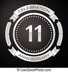 tło., rocznica, ilustracja, lata, jedenaście, wektor, ...