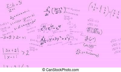 tło, ruchomy, różowy, matematyczny, przeciw, wyrównywania