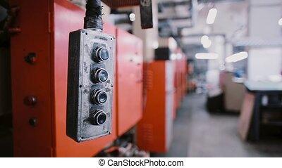 tło, sound., maszyna, witka, druk, wahadłowy, place.,...