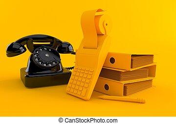 tło, telefon, księgowość