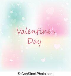 tło., valentine, bokeh, list miłosny, tło, dzień, abstrakcyjny, serca
