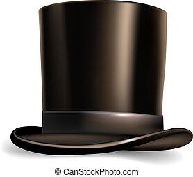tło., walec, biały kapelusz, odizolowany