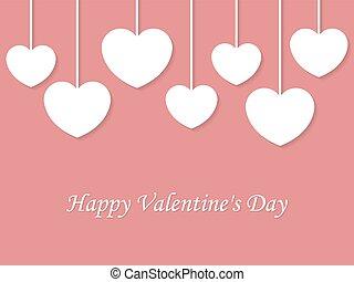 tło., wektor, dzień, valentine