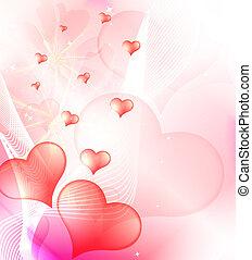 tło, wektor, dzień, valentine