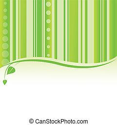 tło., wektor, natura, zielony