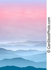 tło, z, góry, w, przedimek określony przed rzeczownikami, fog., zachód słońca, time.
