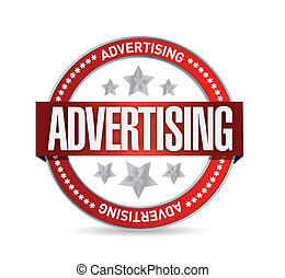 tłoczyć, advertising., słowo, ilustracja